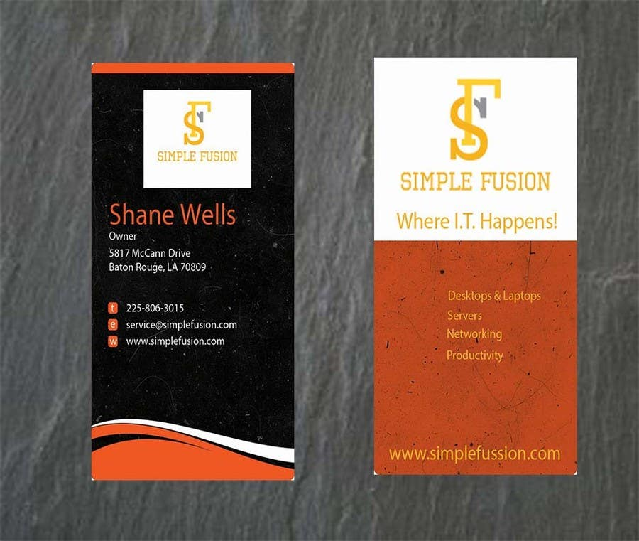 Entry 120 By Amandaclayton31 For Simplefusion Business Cards