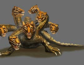 nº 11 pour Lizard with 7 heads 3D par nishankumar
