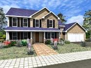 Home Floorplan Front Elevation için 3D Modelling4 No.lu Yarışma Girdisi
