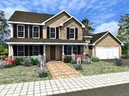 Home Floorplan Front Elevation için 3D Modelling5 No.lu Yarışma Girdisi
