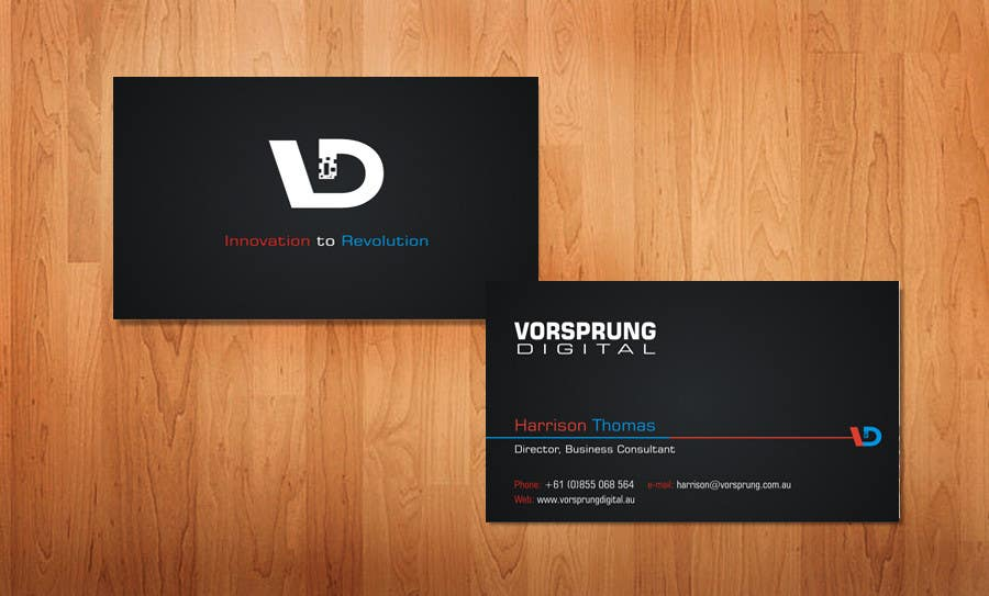 Entry #51 by sami24x7 for Design some Business Cards for Australian ...