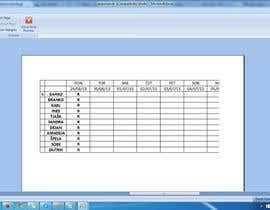 #9 for Do some Excel Work for Workers Schedule af sanjay1208
