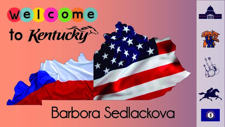 Penyertaan Peraduan #31 untuk Foreign Exchange Student Welcome Banner