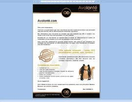 #10 cho Brochure Pro / Flyer / Lettre Avolonté.com bởi Tommy50