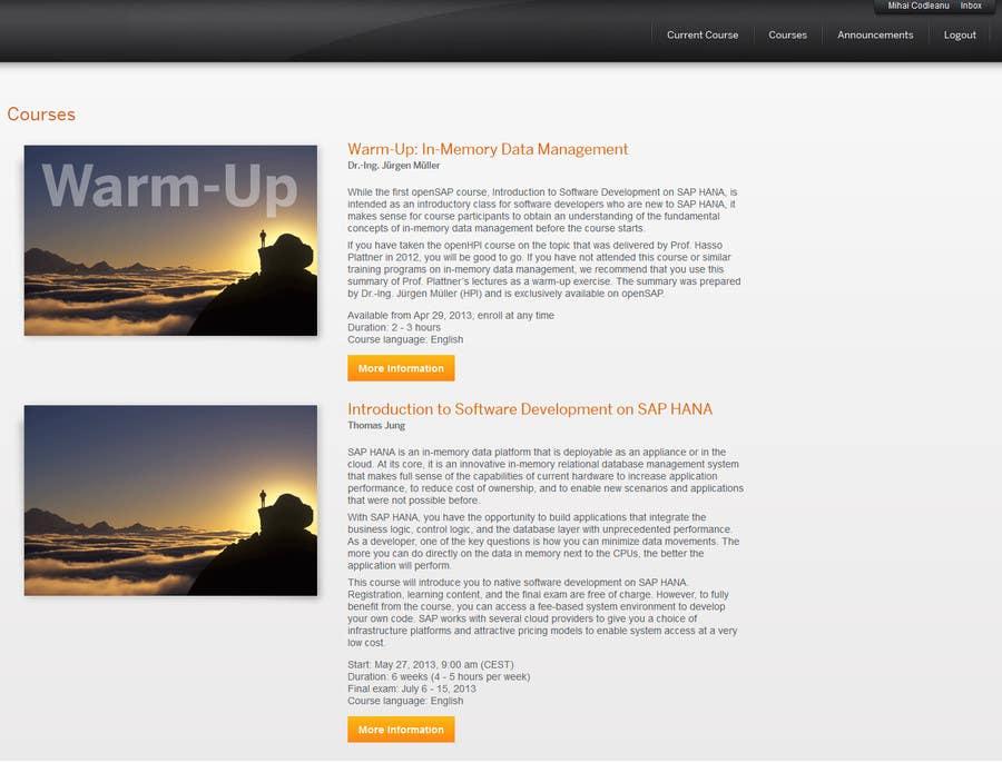 Inscrição nº                                         1                                      do Concurso para                                         Information about SAP training