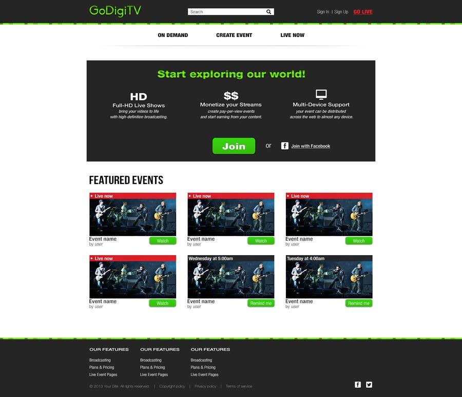 Proposition n°19 du concours Design a Website Mockup for GoDiGiTV