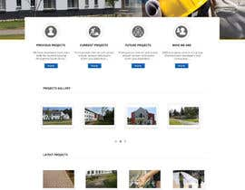 #1 untuk Design a Website Mockup for a construction company oleh abutt1974