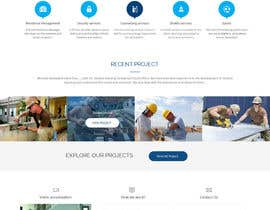 #12 untuk Design a Website Mockup for a construction company oleh syrwebdevelopmen