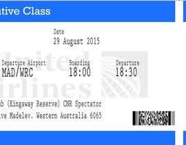 Nro 9 kilpailuun Design a Birthday invitation like a plane boarding card käyttäjältä atmajacreative
