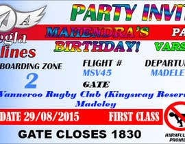 #7 untuk Design a Birthday invitation like a plane boarding card oleh sabrina211