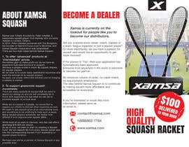 #13 untuk Xamsa Squash Brochure Design oleh doradodo