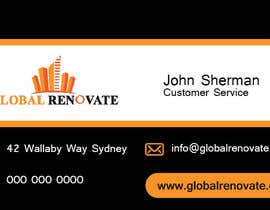 #1 untuk Design some Business Cards for Global Renovate oleh brissiaboyd