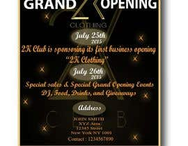 #42 for Design a Flyer for grand opening of clothing store af svaishya1