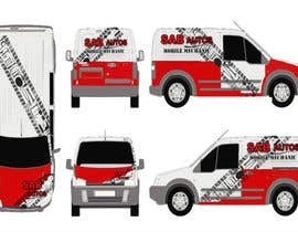 #10 para Vehicle Graphics  Van Signage designs por Arreane21