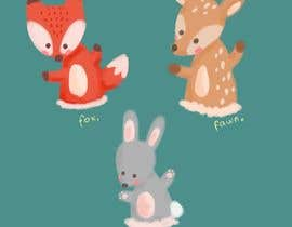 #2 untuk Illustrate Something for Plush Toy set - fox and fawn oleh resibhaskoro