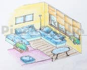 """Bài tham dự #28 về Graphic Design cho cuộc thi 3 DAYS CONTEST: Interior and Exterior Building View of any kind Hand Sketches or Sketchup """"look alike hand sketches """""""