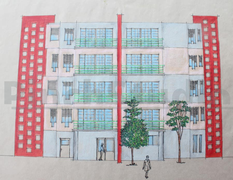 """Bài tham dự cuộc thi #                                        31                                      cho                                         3 DAYS CONTEST: Interior and Exterior Building View of any kind Hand Sketches or Sketchup """"look alike hand sketches """""""