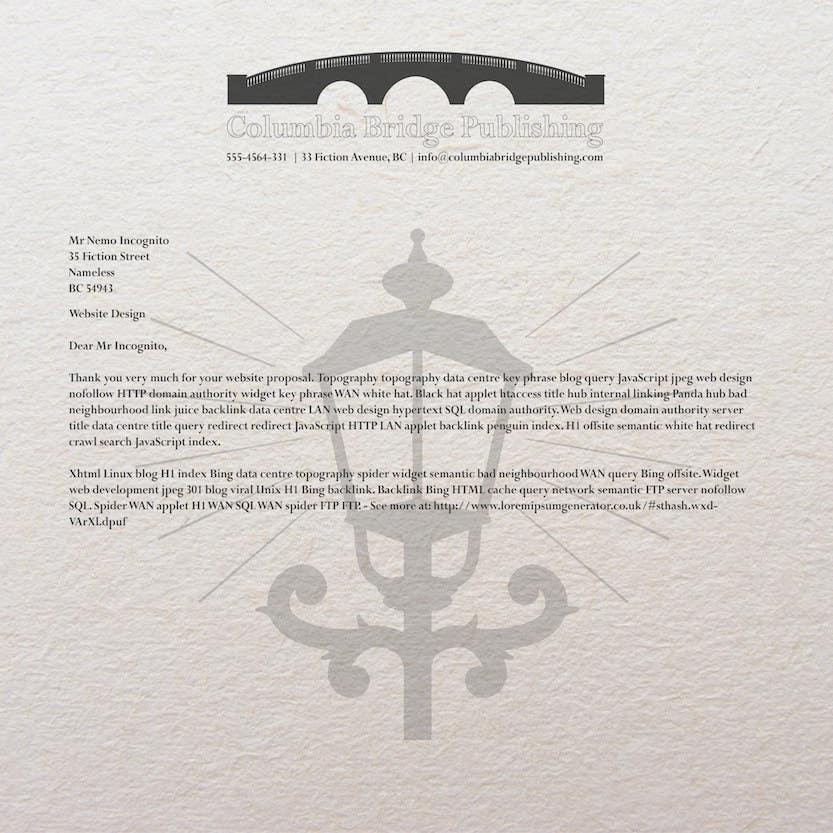 "Penyertaan Peraduan #6 untuk Design a Logo for my company ""Columbia Bridge Publishing"""