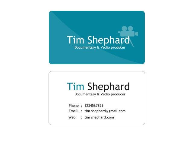 Konkurrenceindlæg #                                        53                                      for                                         Business Card Design for Tim Shephard
