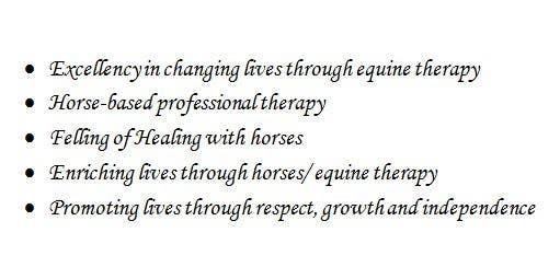 Bài tham dự cuộc thi #72 cho Write a tag line/slogan for equine therapy program
