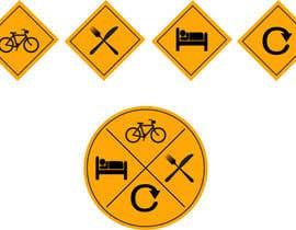 #12 untuk Design some Icons for bike tour business oleh sememeh
