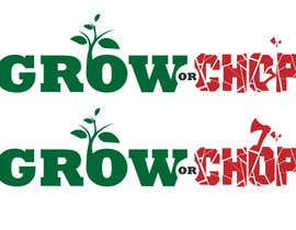 "kimuss tarafından Design a Logo for ""Grow Or Chop"" with Grow and Chop buttons. için no 64"