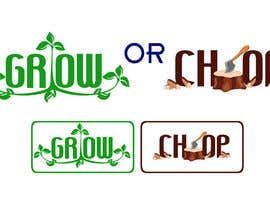 "atomixvw tarafından Design a Logo for ""Grow Or Chop"" with Grow and Chop buttons. için no 60"