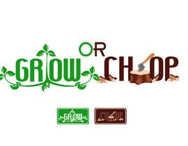 "atomixvw tarafından Design a Logo for ""Grow Or Chop"" with Grow and Chop buttons. için no 61"