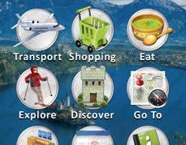 #10 untuk main menu UI design for mobile travel guide app oleh cmind