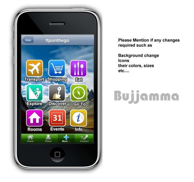 Proposition n°                                        8                                      du concours                                         main menu UI design for mobile travel guide app