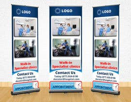 #7 for Design a Banner Roll Up for a Walk-in, appointment free specialist clinics at a hospital by mahiweb123