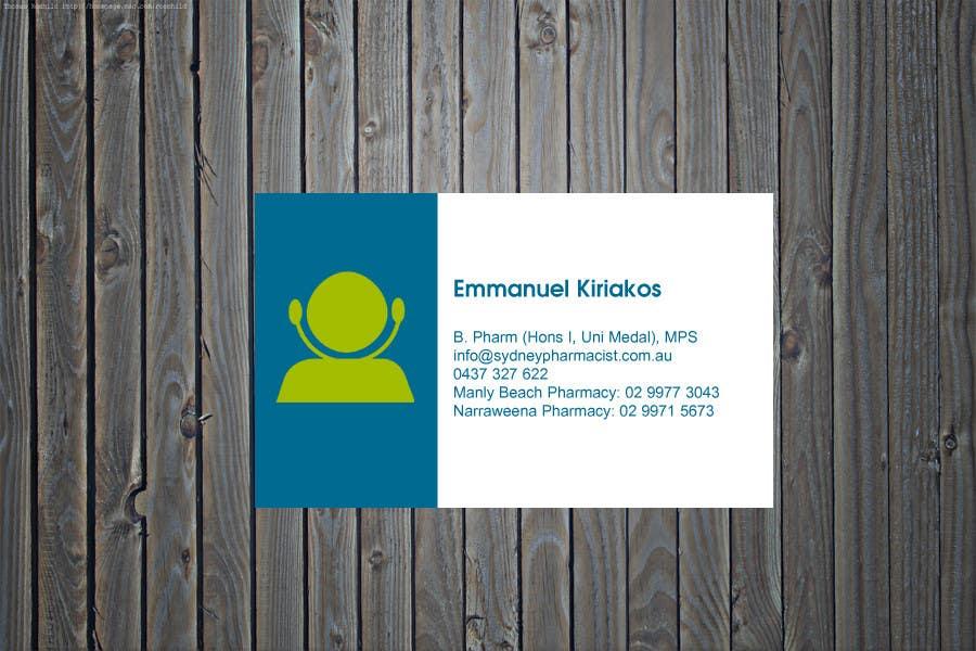 Penyertaan Peraduan #95 untuk Business Card Design for retail pharmacist based in Sydney, Australia