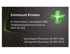 #91 pentru Business Card Design for retail pharmacist based in Sydney, Australia de către rwijaya