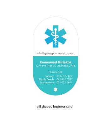 Contest Entry #150 for Business Card Design for retail pharmacist based in Sydney, Australia