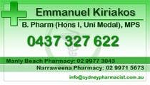 Graphic Design Contest Entry #24 for Business Card Design for retail pharmacist based in Sydney, Australia
