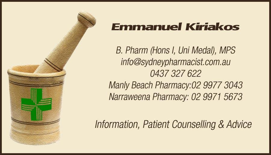 Penyertaan Peraduan #1 untuk Business Card Design for retail pharmacist based in Sydney, Australia