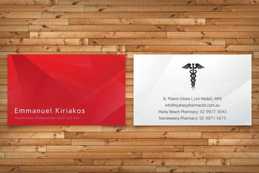 Contest Entry #136 for Business Card Design for retail pharmacist based in Sydney, Australia
