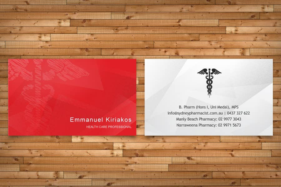 Contest Entry #72 for Business Card Design for retail pharmacist based in Sydney, Australia