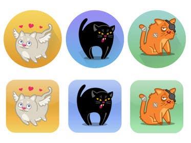 #5 untuk Design 3 Cat Icons oleh dranerswag