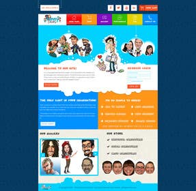 logodesire tarafından Design a Website Mockup for Online Cariacature Shop için no 3