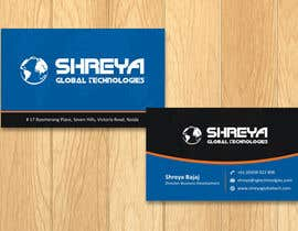 #49 untuk Design some Business Cards for Shreya Global Technologies oleh sami24x7