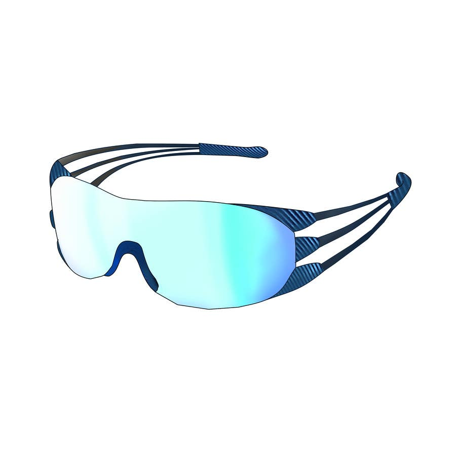 Konkurrenceindlæg #24 for Design some modern,very lightweight sports sunglasses (cycling, triathlon, running)
