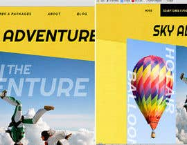 #1 cho Hot Air Balloon ride business Web Site Mockup bởi ZeroGravitySol