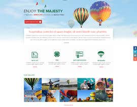 #8 cho Hot Air Balloon ride business Web Site Mockup bởi suryabeniwal