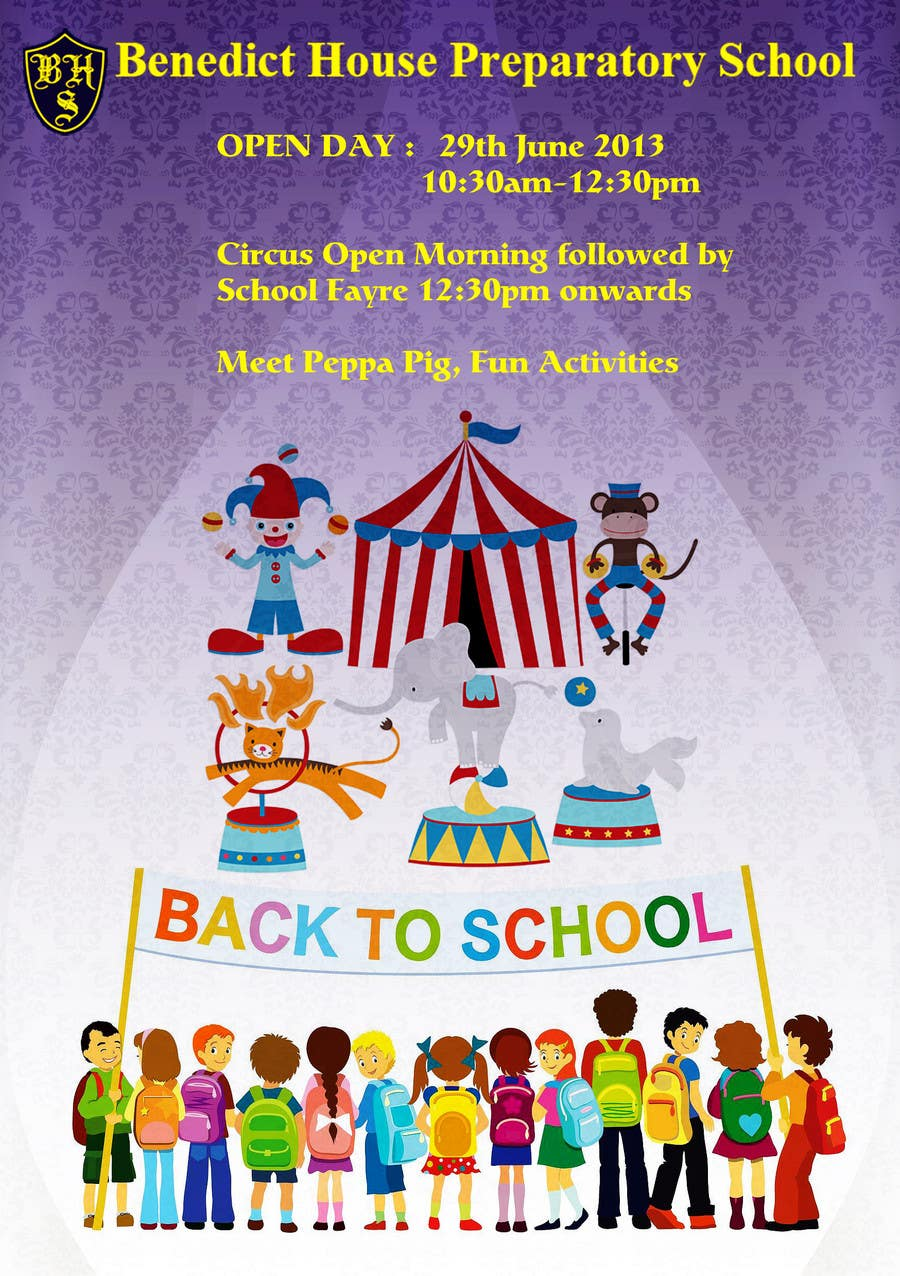 Kilpailutyö #28 kilpailussa Design a Flyer for School Open Day