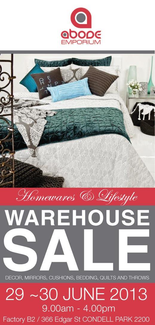 Bài tham dự cuộc thi #2 cho Design a Flyer for Homewares Warehouse Sale