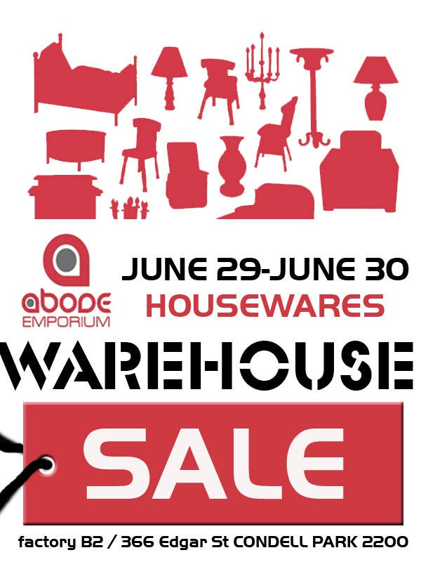 Contest Entry #3 for Design a Flyer for Homewares Warehouse Sale