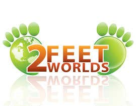 nº 125 pour Design a Logo for 2 Feet 2 Worlds par Xatex92