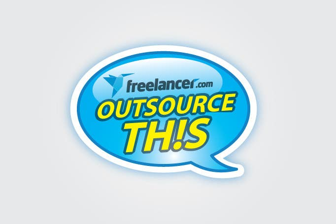 "#190 for Logo Design for Want a sticker designed for Freelancer.com ""Outsource this!"" by eliespinas"