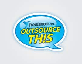 "#190 untuk Logo Design for Want a sticker designed for Freelancer.com ""Outsource this!"" oleh eliespinas"